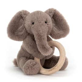 Jellycat Shooshu Elephant Rattle - Rammelaar Olifant