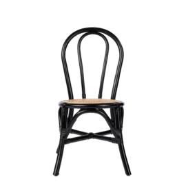 KidsDepot Kinderstoel Ava Rotan - Zwart