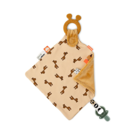 Done by Deer Knuffeldoek Comfort Teether - Raffi Mustard