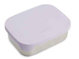 Liewood Lunchtrommel RVS Arthur Lunchbox - Cat Light Lavender
