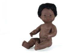 Miniland Pop Afrikaanse Jongen met Syndroom van Down - Boy (38 cm)