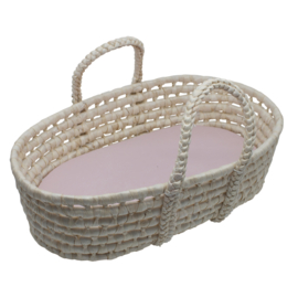 Sebra Doll's Carry Cot  Poppen Mandje - Sunset Pink