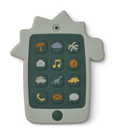 Liewood Thomas Mobile Phone Siliconen Telefoon - Dino Dove Blue