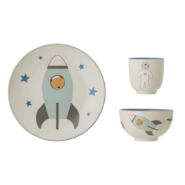Bloomingville Keramisch Kinderservies Space - Blue