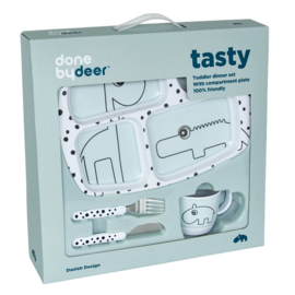 Done by Deer Toddler Dinner Set Happy Dots - Blauw