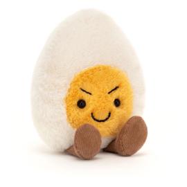 Jellycat Amuseable Boiled Egg Cheeky - Knuffel Gekookt Eitje Brutaal (14 cm)