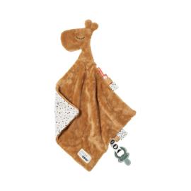 Done by Deer Knuffeldoek Comfort Blanket Giraf Raffi - Mustard