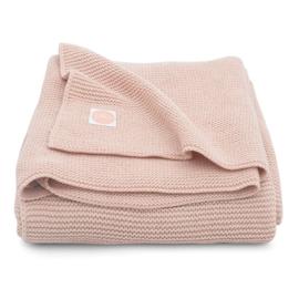 Jollein Gebreide Wiegdeken Basic Knit - Pale Pink (75 x 100 cm)
