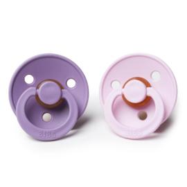 BIBS fopspenen Duoverpakking 0 - 6 maand - Lavender + Baby Pink