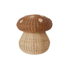 OYOY Opbergmand Paddenstoel Rotan - Mushroom Basket