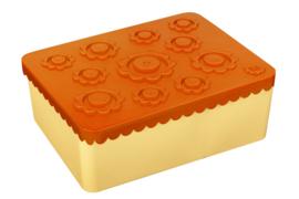 Blafre Lunchtrommel Bloemen - Geel/Oranje