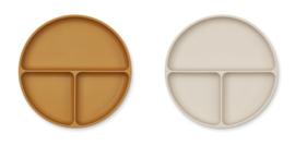 Liewood Siliconen Bord Harvey Divider - Golden Caramel Sandy Mix (set van 2)