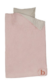 Bibelotte Eenpersoons Dekbedovertrek Onder de Bloemen - Roze