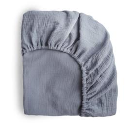 Mushie Hoeslaken Extra Soft Muslin Crib Sheet - Tradewinds