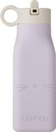 Liewood Drinkfles Warren Waterbottle - Cat Light Lavender (350 ml)