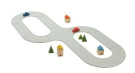 Plantoys Road System Rubberen Wegen Set + 3jr