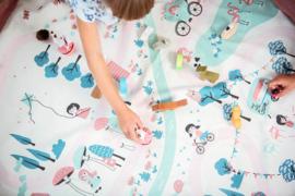 Play and Go Speelgoedkleed en opbergzak - Walk in the Park (dubbelzijdig)
