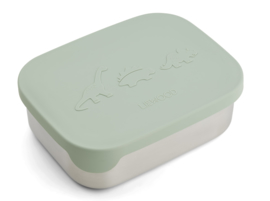 Liewood Lunchtrommel RVS Arthur Lunchbox - Dino Dusty Mint