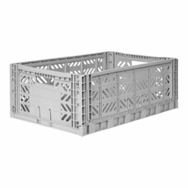 AyKasa Folding Crate Maxi Box - Grey
