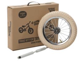 Trybike Steel Trike Set - Derde Wiel Extensie Set - Creme