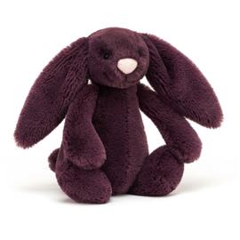 Jellycat Bashful Bunny Plum Small - Knuffel Konijn (18 cm)