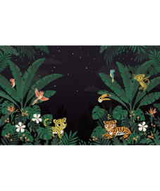 Lilipinso Jungle Night Behang Paneel - Jungle Night (400 x 248 cm)