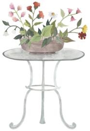 Lilipinso Queyran Muursticker XL - Tafel met Bloemen