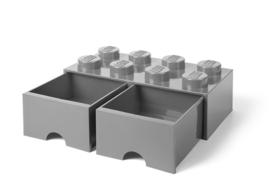 Lego Opbergbox met lade Brick 8 - Zwart