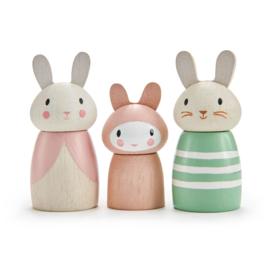 Tender Leaf Poppetjes Familie Konijn - Bunny Tales Dolls +3j