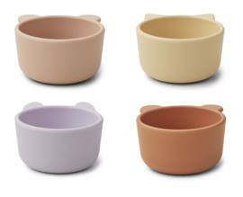 Liewood Malene Silicone Mini Bowl Kommetjes - Light Lavender Multi Mix (set van 4)