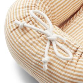 Liewood Gro Babylift Babynest - Stripe Mustard White