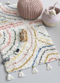 KidsDepot Vloerkleed Berber - Pastel (80x150cm)