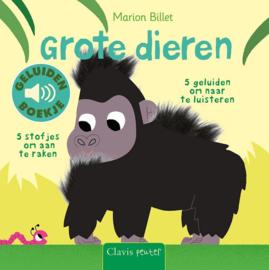 Uitgeverij Clavis Geluidenboekje - Grote Dieren +1jr