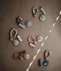 Mushie Baby Tandenborstel - Shifting Sand / Blush (set van 2)