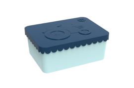 Blafre Lunchtrommel rechthoek Trekker - Donker blauw/licht blauw