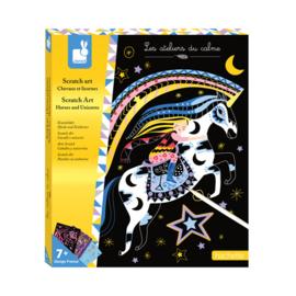 Janod Scratch Art Kraskaarten - Paarden en Eenhoorns (+7 jaar)