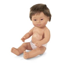 Miniland Pop Europese Jongen met Syndroom van Down - Boy (38 cm)