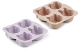 Liewood Bakvormen Mariam Cake Pan - Light Lavender Rose Mix (2 stuks)