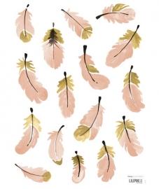 Lilipinso Flamingo Veertjes - Muursticker (S1040)