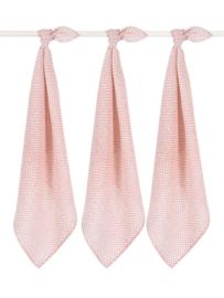 Jollein Hydrofiele Doek Small Snake - Pale Pink (set van 3)