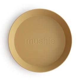 Mushie Bord Rond (set van 2) - Mustard