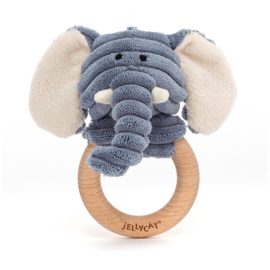 Jellycat Cordy Roy Baby Elephant Rammelaar - Olifant
