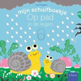 Uitgeverij Clavis Schuifboekje - Op pad in de regen +1jr