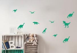 Pom Muurstickers - Dinosaurus (groen) (op=op)
