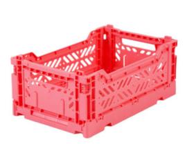 AyKasa Folding Crate Mini Box - Dark Pink
