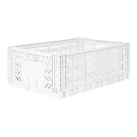 AyKasa Folding Crate Maxi Box - White