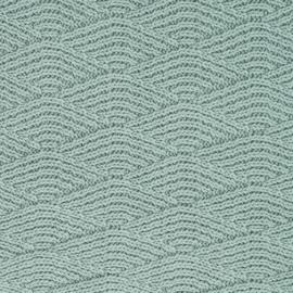 Jollein Wieg Deken River Knit - Ash Green/Coral Fleece (75x100cm)