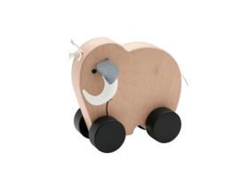 Kids Concept Houten Neo Push Speeltje - Mammoet