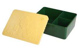 Blafre Lunchtrommel Beren - Geel / Donker Groen