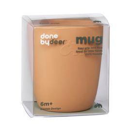 Done by Deer Siliconen Mini Mug Drinkbeker - Mustard